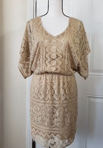 LAUNDRY BY SHELLY SIEGEL LACE COCKTAIL DRESS